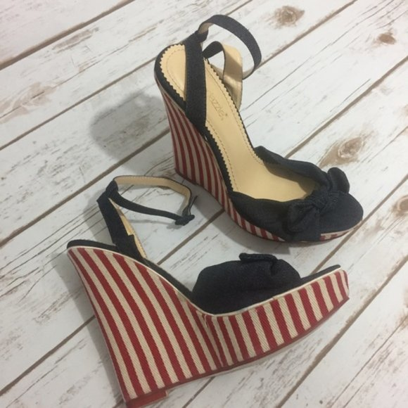Bethylin Americana Ankle Strap Wedge